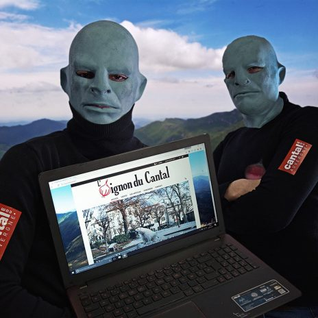 Gérard Depardeu et Jean Raffole de L'Oignon du Cantal