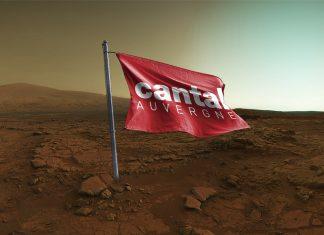 Un drapeau Cantal Auvergne découvert sur Mars