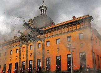 La statue du pape Gerbert termine son vol dans la mairie d'Aurillac
